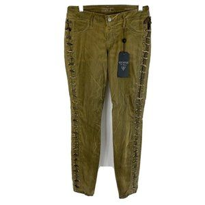 Guess Kate Skinny Slim Fit Jeans Dusty Olive